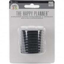 Me & My Big Ideas Create 365 The Happy Planner Black Expander Rings RING-01