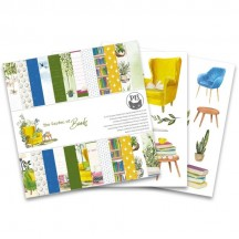 "P13 The Garden of Books 6""x6"" Designer Paper Pad P13-GAR-09"