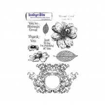 IndigoBlu Bloomin' Great A5 Cling Mounted Rubber Stamp Sheet