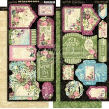 Graphic 45 Bloom Double-Sided Cardstock Tags and Pockets 4501873