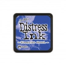 Ranger Tim Holtz Blueprint Sketch Mini Distress Ink Pad TDP47346 blue