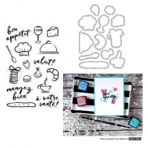 Hero Arts Bon Appetit Clear Stamp & Die Set