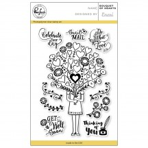 "Pinkfresh Studio Bouquet of Hearts 4""x6"" Clear Stamp Stamp Set PFCS1018"
