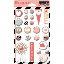 Teresa Collins You Are My Happy Decorative Chipboard & Buttons YMH119