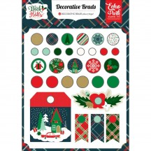 Echo Park Deck The Halls Mixed Decorative Christmas Brads DH116020