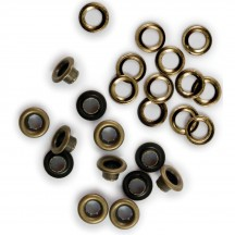 """We R Memory Keepers 3/16"""" Eyelets & Washers - Brass 42217-4"""
