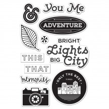 Hero Arts & Basic Grey Second City Bright Lights Clear Stamp Set CL794