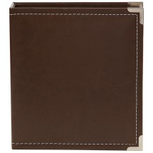 """Simple Stories Snap Binder Brown 6""""x8"""" Faux Leather Album & Accessories 4040"""