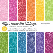 """My Favorite Things Bundles Of Blossoms Brights 6""""x6"""" Paper Pack"""
