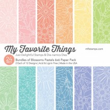 """My Favorite Things Bundles Of Blossoms Pastels 6""""x6"""" Paper Pack"""