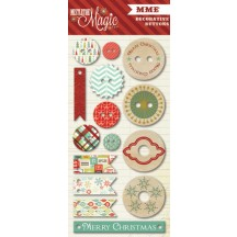 My Mind's Eye Mistletoe Magic Christmas Decorative Chipboard & Buttons MM1015