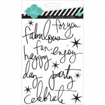 Heidi Swapp Buzz Word Black Epoxy Stickers hs00977