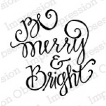 Impression Obsession Be Merry Cling Rubber Stamp C19903