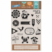 "Craft Asylum Meadow Sweet 5""x5.5"" Clear Stamp Set - 480104"