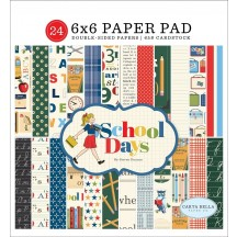"Carta Bella School Days 6""x6"" Double-Sided Paper Pad DS118023"