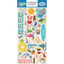 Carta Bella Summer Splash Self Adhesive Chipboard Accent Stickers CBSPL83021