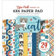 "Echo Park I Love My Cat 6""x6"" Double-Sided Paper Pad 24 Sheets LMC199023"