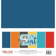 "Echo Park I Love My Cat 12""x12"" Solids Paper Kit LMC199015"