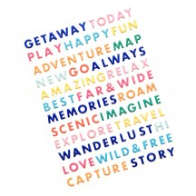 American Crafts Paige Evans Go the Scenic Route Word Puffy Stickers 369773