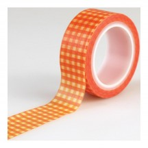 Carta Bella Autumn - Orange Gingham Decorative Washi Tape CBATM57027