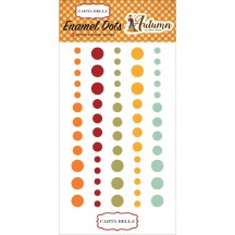 Carta Bella Autumn Enamel Dots - orange, red, yellow, green, CBATM57028