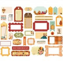 Carta Bella Autumn Tags & Frames Ephemera Die Cut Cardstock Pieces CBATM57029
