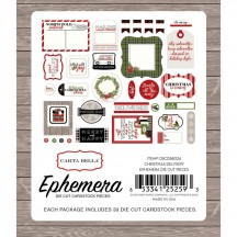 Carta Bella Christmas Delivery Ephemera Die Cut Cardstock Pieces CBCD58024