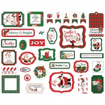 Carta Bella Dear Santa Ephemera Die Cut Cardstock Pieces DS125024