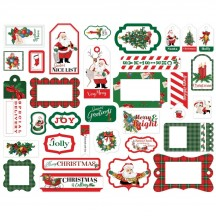 Carta Bella Dear Santa Frames & Tags Ephemera Die Cut Cardstock Pieces CBDE125025