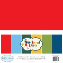 "Carta Bella School Days 12""x12"" Solids Paper Kit DS118015"