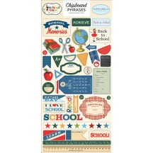 Carta Bella School Days Self Adhesive Chipboard Phrases Stickers DS118022