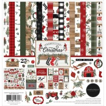 "Carta Bella Farmhouse Christmas 12""x12"" Collection Kit CBFAC123016"