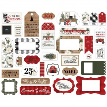 Carta Bella Farmhouse Christmas Frames & Tags Ephemera Die Cut Cardstock Pieces FAC123025