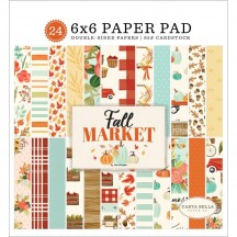 "Carta Bella Fall Market 6""x6"" Double-Sided Paper Pad AM105023"