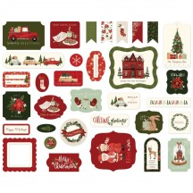 Carta Bella Hello Christmas Ephemera Die Cut Cardstock Pieces HC124024