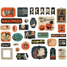 Carta Bella Happy Halloween Ephemera Die Cut Cardstock Pieces HAL104024