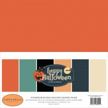 "Carta Bella Happy Halloween 12""x12"" Solids Paper Kit HAL104015"