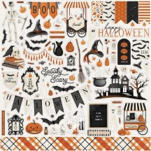 "Carta Bella Halloween Market 12""x12"" Die-cut Cardstock Element Stickers CBHM121014"