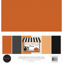 "Carta Bella Halloween Market 12""x12"" Solids Paper Kit CBHM121015"