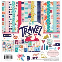 "Carta Bella Let's Travel 12""x12"" Collection Kit LT100016"