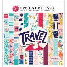 "Carta Bella Let's Travel 6""x6"" Double-Sided Paper Pad LT100023"