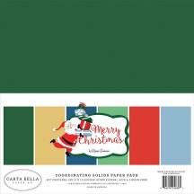 "Carta Bella Merry Christmas 12""x12"" Solids Paper Kit CBM107015"