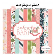 "Carta Bella Rock-a-Bye Baby Girl 6""x6"" Double-Sided Paper Pad CBRBG63015"