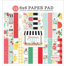 "Carta Bella Summer Market 6""x6"" Double-Sided Paper Pad SUM115023"