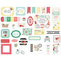 Carta Bella Summer Market Ephemera Die Cut Cardstock Pieces SUM115024