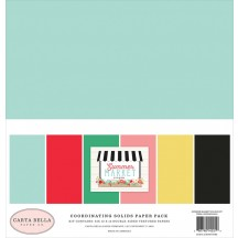 "Carta Bella Summer Market 12""x12"" Solids Paper Kit SUM115015"