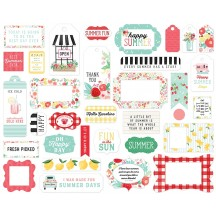 Carta Bella Summer Market Frames & Tags Ephemera Die Cut Cardstock Pieces SUM115025