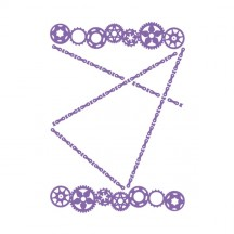 Couture Creations Large Cogs Universal Embossing Folder