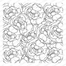 Impression Obsession Layered Roses Cling Rubber Stamp CC283