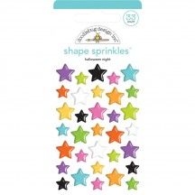 Doodlebug Candy Carnival Halloween Night Star Sprinkles Glossy Enamel Shapes 6439